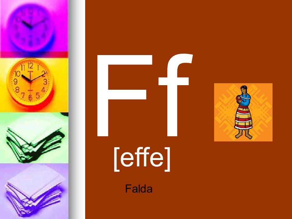 Ff [effe] Falda